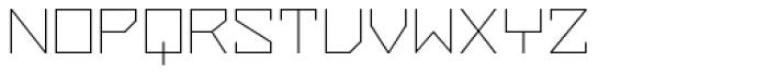 ZAP Thin 500 Font UPPERCASE