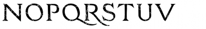 Zachar Book Rust Scratched Font UPPERCASE