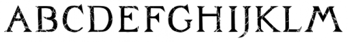 Zachar Book Rust Scratched Font LOWERCASE