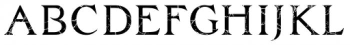 Zachar Book Scratched Font UPPERCASE