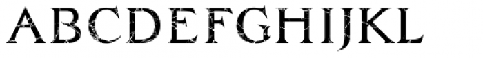 Zachar Book Scratched Font LOWERCASE