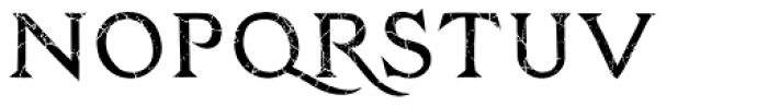 Zachar Medium Rust Scratched Font UPPERCASE