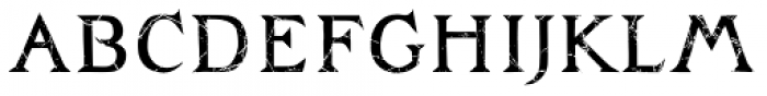 Zachar Medium Rust Scratched Font LOWERCASE