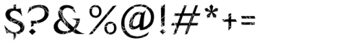Zachar Medium Scratched Font OTHER CHARS