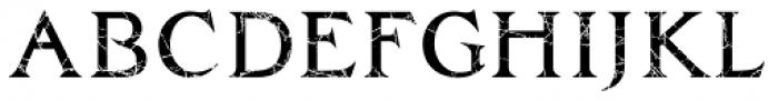 Zachar Medium Scratched Font UPPERCASE