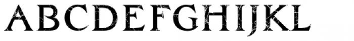 Zachar Medium Scratched Font LOWERCASE