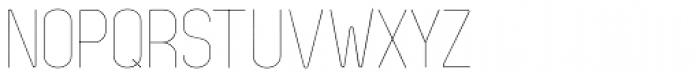 Zag Thin Font UPPERCASE