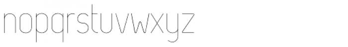 Zag Thin Font LOWERCASE