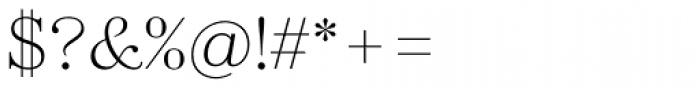 Zahrah Light Font OTHER CHARS