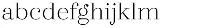 Zahrah Light Font LOWERCASE