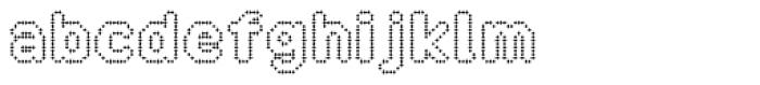Zampichi Outline Font LOWERCASE