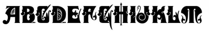 Zanderley Font UPPERCASE