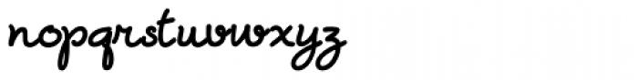 Zanya Bold Font LOWERCASE