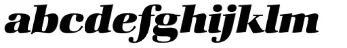 Zapf Book Heavy Italic Font LOWERCASE