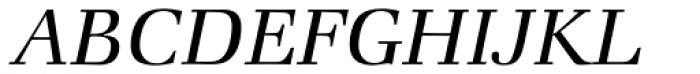 Zapf Book Italic Font UPPERCASE