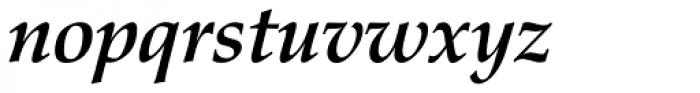 Zapf Calligraphic 801 Bold Italic Font LOWERCASE