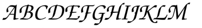 Zapf Chancery Italic Font UPPERCASE
