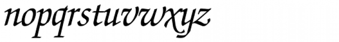 Zapf Chancery Italic Font LOWERCASE