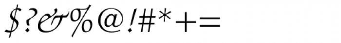 Zapf Chancery Light Italic Font OTHER CHARS