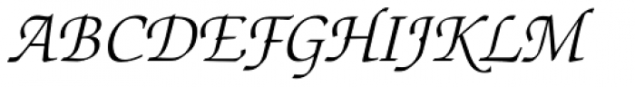 Zapf Chancery Light Italic Font UPPERCASE