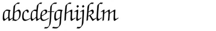 Zapf Chancery Light Font LOWERCASE