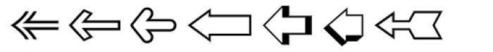 Zapf Essentials Arrows Two Font UPPERCASE