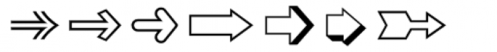 Zapf Essentials Arrows Two Font LOWERCASE
