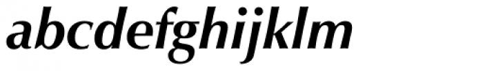 Zapf Humanist 601 Bold Italic Font LOWERCASE