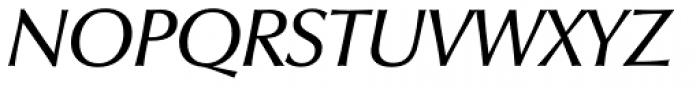 Zapf Humanist 601 Demi Italic Font UPPERCASE