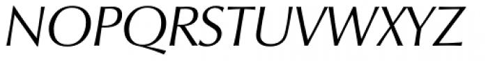 Zapf Humanist 601 Italic Font UPPERCASE