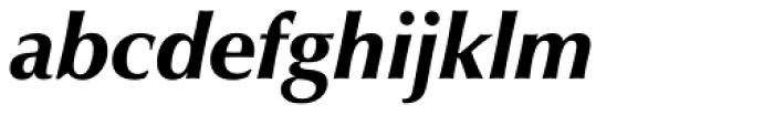 Zapf Humanist 601 Ultra Italic Font LOWERCASE