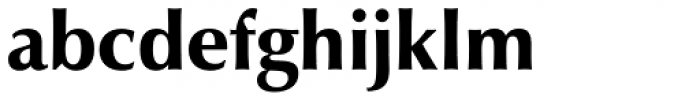 Zapf Humanist 601 Ultra Font LOWERCASE