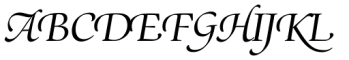 Zapf Renais SB Italic Swash Font UPPERCASE