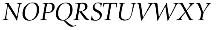 Zapf Renais SB Italic Font UPPERCASE