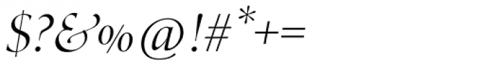 Zapf Renais SB Light Italic Swash Font OTHER CHARS