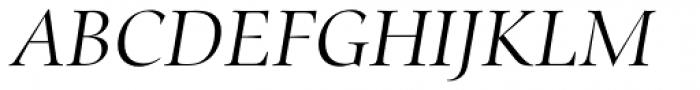 Zapf Renais SB Light Italic Font UPPERCASE