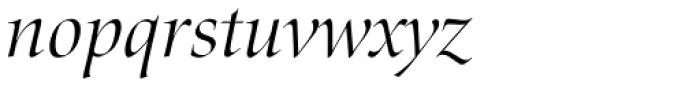 Zapf Renais SB Light Italic Font LOWERCASE