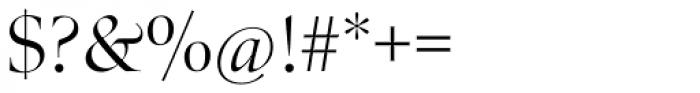 Zapf Renais SB Light Font OTHER CHARS