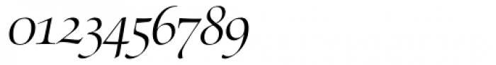 Zapf Renaissance Antiqua Swashed Light Italic Font OTHER CHARS