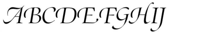 Zapf Renaissance Antiqua Swashed Light Italic Font UPPERCASE