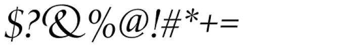 Zapf Renaissance B EF Book Italic Font OTHER CHARS