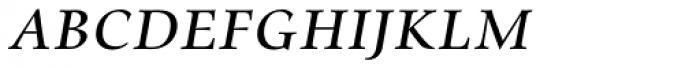 Zapf Renaissance H EF Book Italic SC Font LOWERCASE