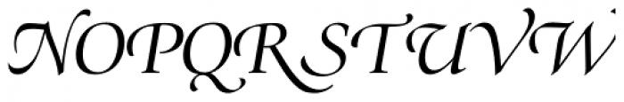 Zapf Renaissance H EF Book Italic Swash Font UPPERCASE