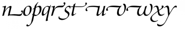Zapf Renaissance H EF Book Italic Swash Font LOWERCASE