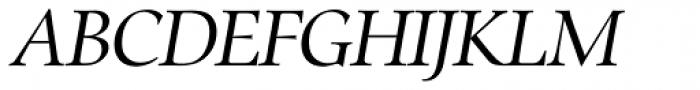 Zapf Renaissance H EF Book Italic Font UPPERCASE