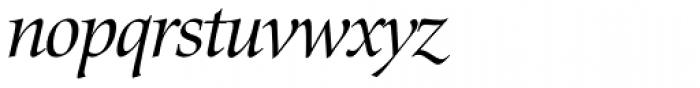 Zapf Renaissance H EF Book Italic Font LOWERCASE