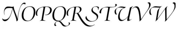 Zapf Renaissance H EF Light Italic Swash Font UPPERCASE