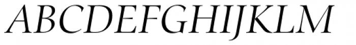 Zapf Renaissance H EF Light Italic Font UPPERCASE