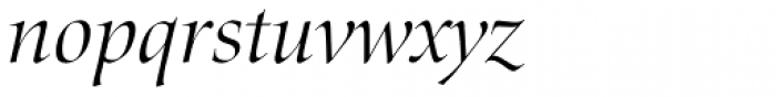 Zapf Renaissance H EF Light Italic Font LOWERCASE