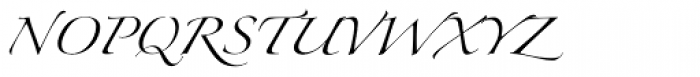 Zapfino Arabic Font UPPERCASE